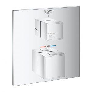 GROHE Термостатен смесител за душ с 2 изхода и вграден превключвател