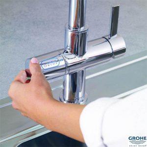 GROHE Система за филтрирана вода + Кухненски смесител