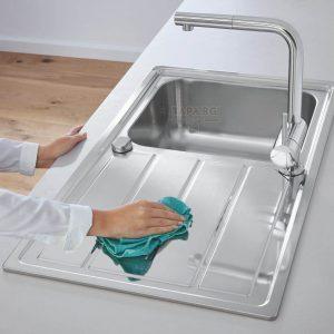 GROHE Кухненска мивка с плот за отцеждане и едно корито