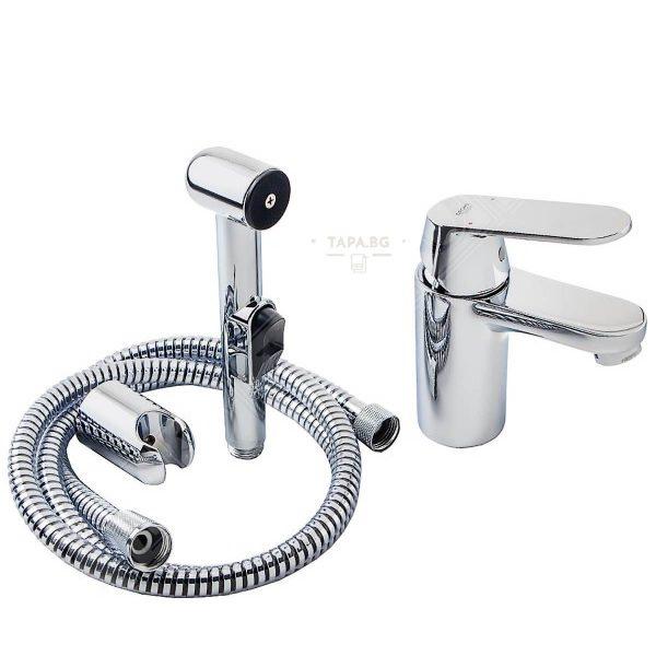 GROHE Промо комплект  (смесител за мивка + подвижен ръчен душ/биде)