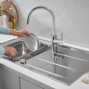 GROHE Кухненска мивка с плот за отцеждане